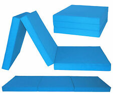 3 section AQUA fold out CHAIR BED GUEST MATTRESS FUTON Z BED CHAIRBED GILDA