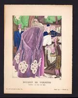 1 print stencil tiree of the GAZETTE OF THE GOOD TON 1921 DRESS EVENING VIOLETTE