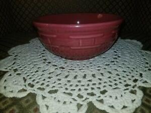 "Longaberger Woven Traditions Pottery Paprika (Red) 6"" Soup/Salad Bowl~EUC"