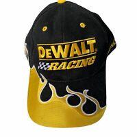 DeWalt Racing Cap Hat NASCAR Matt Kenseth Yellow Black Flames 17