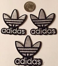 (3) Adidas Logo/ Emblem Embroidered Iron On Patches pATCH APPX 2""