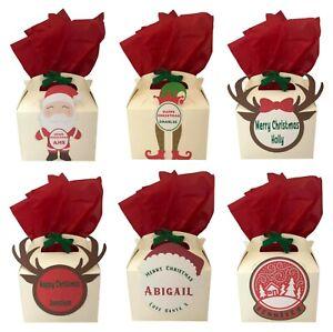 Personalised Christmas Xmas Small Gift Box Party Present Box Giftbox