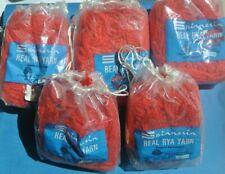 Spinnerin Latch Hook Rug Yarn Wool Crimson Lot of 5 Made in Switzerland