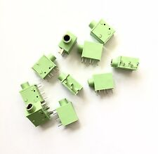 "10 pcs High Quality 3.5mm 1/8"" Stereo Audio Jack 5Pin Pcb Panel Mount Connector"