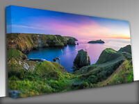 Mullion Cove in Cornwall Uk   Panoramic Canvas Wall Art Picture Print