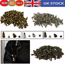 Spike Punk Cone points Studs for DIY Leathercraft Jacket Shoes Strap x 100