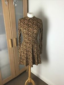 Forever 21 Dress Leopard Print Uk Size Small
