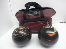 2 Vintage Color Brunswick Duckpin Bowling Balls 5 Inches With Bag