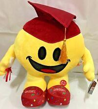 Emoji Graduation Plush RED Hat 13.5 inch MUSIC & Light Up GRAD IDOL 2018