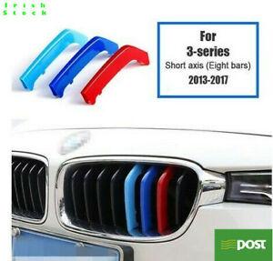 BMW F30 Grill Trim 3 Series M Sport Tech 3 Color Stripes Badge Decal 2013-2017