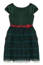 Green Yumi Girl Velvet Lace Prom Dress