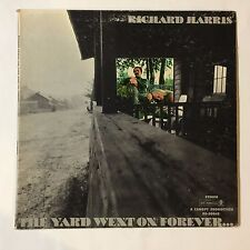 Richard Harris ‎– The Yard Went On Forever... ABC/Dunhill Records vinyl lp vg/vg