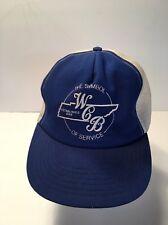 Trucker Hat Baseball Cap White & Blue Mesh WCB The Symbol Of Service Snap Back