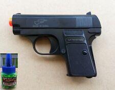 Airsoft Gun Double Eagle P328 Black Spring Powered Pistol + 200 0.12g 6mm BB BBs