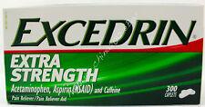 Excedrin Extra Strength Acetaminophen Aspirin Caffeine Pain Reliever 300 Caplets