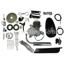 Silver Motorized Bike Petrol 80cc 2=Stroke Gas Bicycle Engine  Cycle Motor Kit