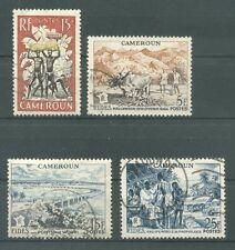 timbres oblitérés Cameroun YT 298-300-301-303