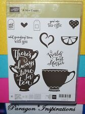 NEW Stampin Up A NICE CUPPA Photopolymer Mother's Day World's Best Coffee Tea