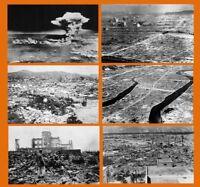 Hiroshima Atomic Bomb 6 PHOTOS Lot Little Boy Enola Gay Peace Dome Nuclear Ruins