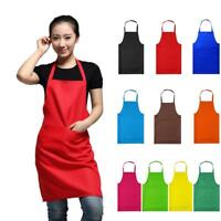 Plain Apron With Front Pocket Chefs Butchers Home Kitchen Cooking Craft Baking
