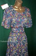Monsoon Multi Floral Ditsy *natasha* Summer Shift Tea Dress - Many Sizes UK 14