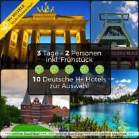 Kurzreise Urlaub Reiseschein Bremen Lübeck Stade 3 Tage 2 Personen 4★ H+ Hotels