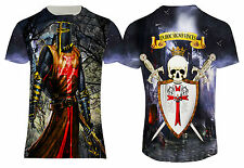 NEW TEUTONIC KNIGHT TEMPLAR SKULL CASTLE CRUSADER PRINTED US SIZING TOP T-SHIRT