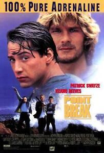 Affiches Point Break Patrick Swayze Keanu Reeves 1991 Surf Affiche #3