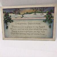 Vintage 1923 Christmas Greeting Postcard Holiday Missoula Montana