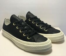 Converse Womens Size 8 First String CTAS 70 Reptile 1970 Black Leather Shoes