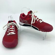 Reebok Crossfit Nano 4.0 Shoes Womens Size 8.5 Cherry Red Lace Up Athletic Sport