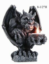Night Winged Gargoyle Statue Figurine T Light Holder Grotesque Home Decor Demon