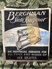 Vintage Berghman Ice Skate Sharpener In Box Metal Universal Adjustable Usa 1960s