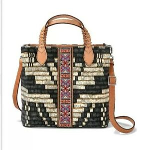 NEW Brighton MIKENNA Crossbody Tote Handbag Africa Stories Collection NWT