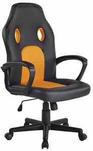 Sedia da Ufficio Design Sportivo in Ecopelle con Ruote Altezza regolabile var...
