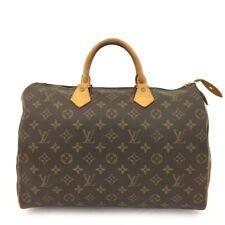 100% Authentic Louis Vuitton Monogram Speedy 35 Boston Travel Hand bag /40881
