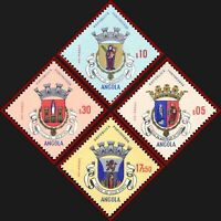 Angola 1963  Coats of arms, Madonna, patron saint, Religion  4 stamps, ** MNH