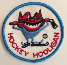 Vintage Hockey Hooligan  Crest /Patch Sew On/Glue On 3 Inch Round