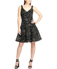 DKNY | Embroidered Cocktail Dress | Black | 12