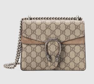 GUCCI Dionysus GG Supreme Mini Bag Beige