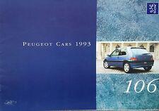 Peugeot 106 All Models Sales Brochure - October 1993