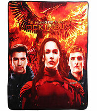 Hunger Games Mockingjay Part 2 SUPER PLUSH THROW BLANKET 50X60 FREE PRIORITY NEW