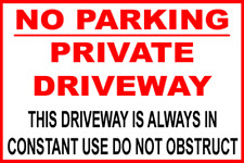 No Parking Private Driveway Vinyl warning stickers signs