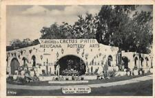 CACTUS PATIO MEXICANA POTTERY ARTS MIAMI FLORIDA DEXTER PRESS POSTCARD (c.1940s)