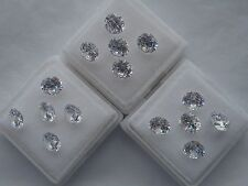 6mm round clear cubic zirconia loose gemstones 2 stones £1.10p