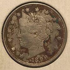 "^ 1890 Liberty ""V"" Nickel ^       ^^  VERY FINE ^^    128 YRS OLD     3522"