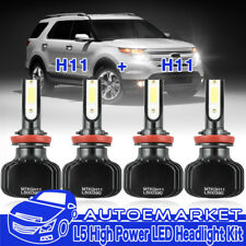 H11+H11 LED Headlight Bulbs Kit Hi Lo Beam For 07-17 Nissan Altima Sentra H9 H8
