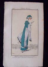 Roger Broders  Costumes Parisiens 1912 Robe velours de soie et hermine Pl. 29