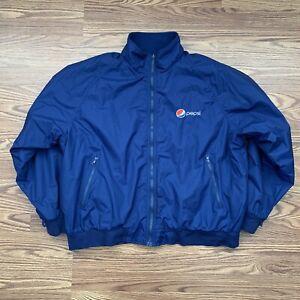 Pepsi Aramark Employee Nylon Fleece Lined Jacket 2XL Some Defects See Pics