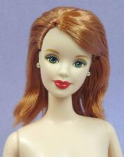 BARBIE TITIAN BEND LEG ~ Red Head Long Hair Green Eyes Mackie Nude Doll & Stand